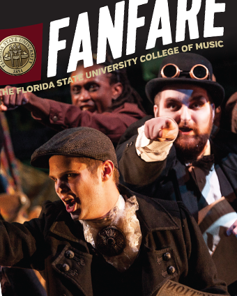 Cover of FSU College of Music Fanfare Magazine